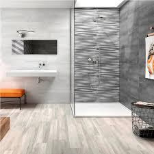 Light Grey Tiles Bathroom Small Shower Room And Sleek Mounted Sink For Adorable Bathroom