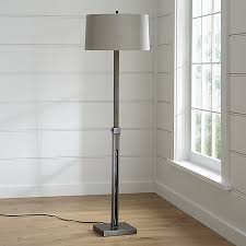 Pulley Floor Lamp Denley Bronze Floor Lamp Crate And Barrel