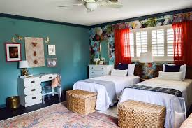 vintage eclectic garden inspired shared girls u0027 bedroom domicile 37