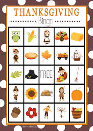 happy thanksgiving spanish thanksgiving bingo crazy little projects