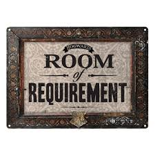 harry potter room of requirement a5 steel sign tin picture wall