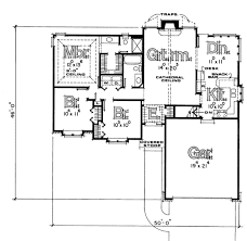 traditional style house plan 3 beds 2 00 baths 1271 sq ft plan