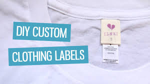printable fabric tags diy custom clothing labels charlimarietv youtube