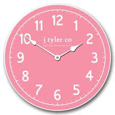 new traditional pink clock the big clock store