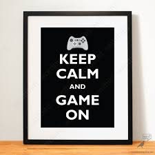 gift for him boys room decor video game poster geek decor