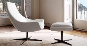 divani ego fauteuil contemporain en tissu en cuir en chrome ego