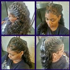 Braided Hairstyles With Weave Double Underbraid Quick Weave Braids Pinterest Quick Weave