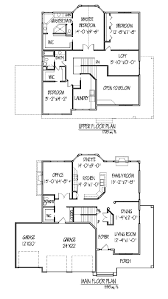 Two Family Floor Plans by Interesting Effective Two Story House Plans To Give More Spaces