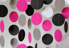 pink black silver decoration pink paper
