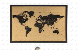 World Map Poster With Pins by Wall Maps Pinboard Magnetic Pinboards