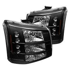 2005 chevy silverado 2500hd tail lights spyder chevy silverado 2005 2006 black conversion euro headlights
