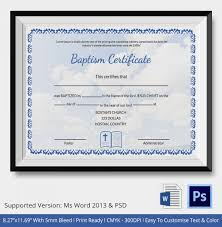20 sample baptism certificate templates free sample example