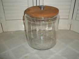clear glass canisters for kitchen 196 best vtg kitchen wood w glassplastic images on