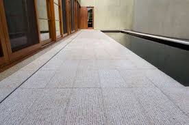 tiles for flooring wearing material