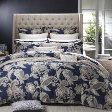 alexandra navy quilt cover set by private collection planet linen