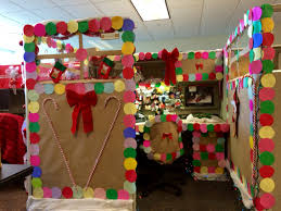 christmas contest at work gingerbread decorated cubicle total