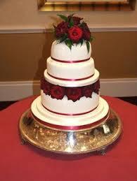 Fleur 5 Tiers With Sugar Flower Cascade Red Themed Wedding