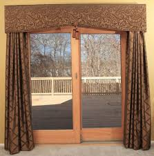 Window Dressings For Patio Doors Doors Unfinished Wood Sliding Patio Glass Doors With Beautiful