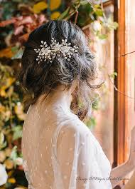gorgeous and unique gold and gold bridal hair accessories