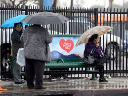 California Travel Umbrella images Moderate to heavy rain falling on southern california snow in jpg
