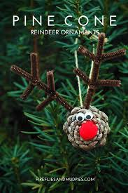 pine cone reindeer ornaments fireflies and mud pies