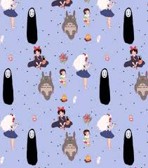 pattern illustration tumblr bolton illustration i made a studio ghibli pattern with some of my