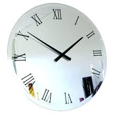 Unique Large Wall Clocks Wall Clock Large Antique Mirrored Wall Clock Mirrored Wall Clock