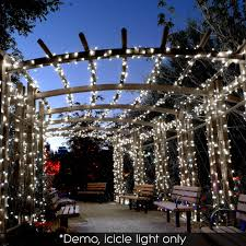 Outdoor Wedding Lights String by 800 Led Christmas Icicle Lights String Outdoor Fairy Party Wedding