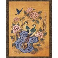 Asian Wall Decor Asian Bird Painting Wall Decor Hanging Scroll Rock And Lyrebird