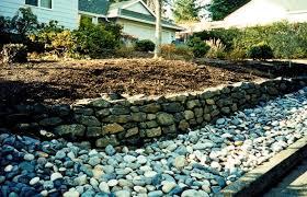 natural rock walls concrete block walls classic garden