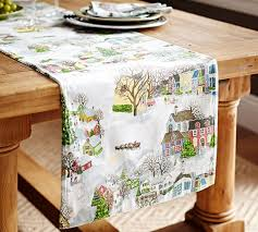 winter table runner benefiting give a