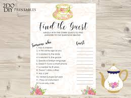 find the guest bridal shower game find the guest printable