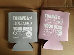 koozies for weddings to and to hold and keep your cold wedding favor to
