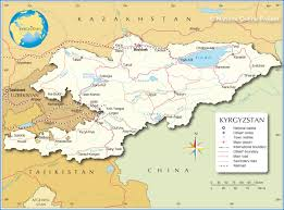Middle East Map Capitals by Political Map Of Kyrgyzstan Nations Online Project