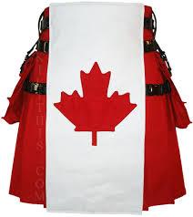 interchangeable red canadian maple leaf canvas utility kilt u2013 kilt