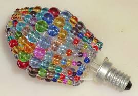 Candle Sleeves For Chandelier Crystal Chandelier Inspired Glass Bead Light Bulb Candle Bulb