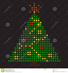 new year u0027s tree pixel art royalty free stock images image 27503089