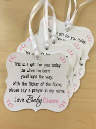 candle baby shower favors candle baby shower tagswinter baby shower favor tagstea