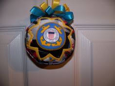 7 ornaments white blue marine