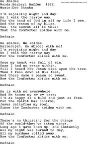 Maps Lyrics Pentecost Hymns Song He Abides Lyrics And Pdf