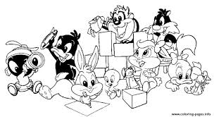 baby looney tunes freed2b1 coloring pages printable