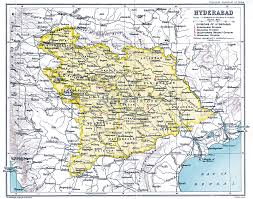 India State Map by Indian Annexation Of Hyderabad Wikipedia