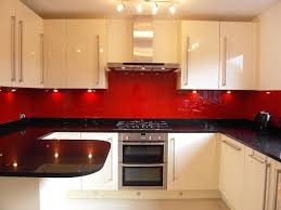 Red Black White Kitchen - white kitchen cabinets red walls kitchen design