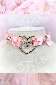 choker necklace pink images Bdsm daddys girl choker necklace pink faux leather heart pink bow jpg