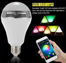 led light bulb speaker color changing led l speaker d80 h135 mm with remote controller