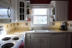 kitchen trendy painted kitchen cabinets with white appliances