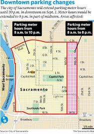 Sacramento State University Map by Sacramento Set To Extend Evening Parking Meter Hours The