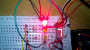 4 way traffic light using arduino traffic light with counter using arduino youtube