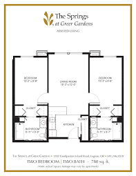 bathroom floorplans senior apartment floor plans the springs at greer gardens