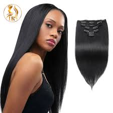 human hair suppliers real clip in human hair extensions jet balck best remy